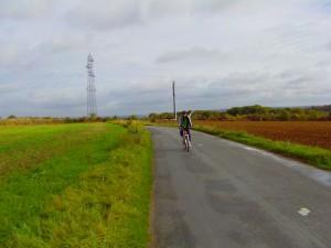 Après la montée de la route de Chalifert