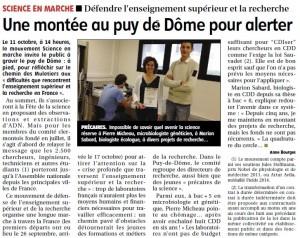 Science en marche - Clermont - La montagne 11014